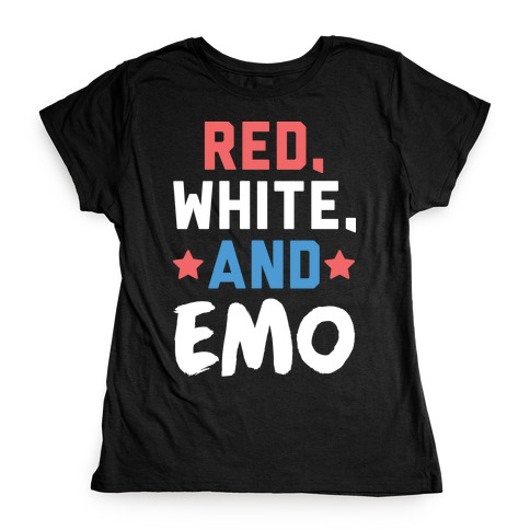Red, White, And Emo Womens T-Shirt
