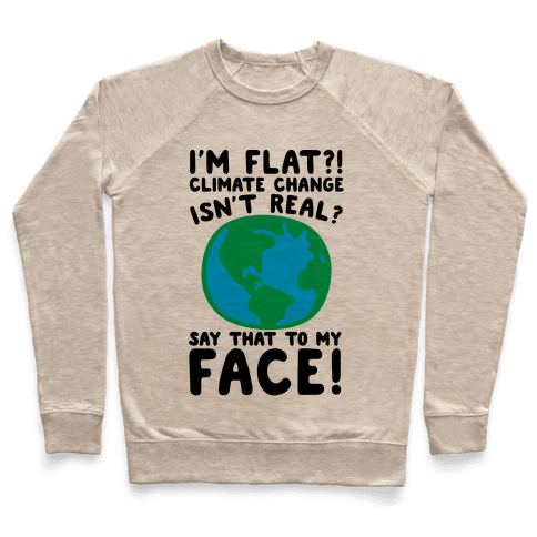 I'm Flat Climate Change Isn't Real Say That To My Face  Pullover