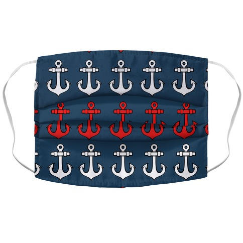 Anchor Pattern Accordion Face Mask
