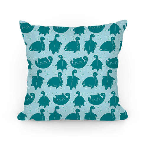 Cute Nessie Pattern Pillow