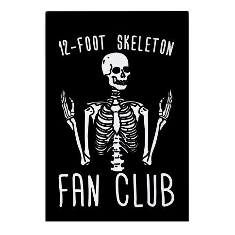 12-Foot Skeleton Fan Club Garden Flag