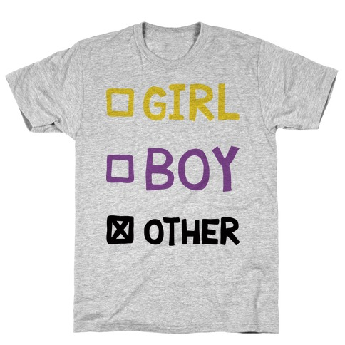 Non-Binary Gender Checklist T-Shirt