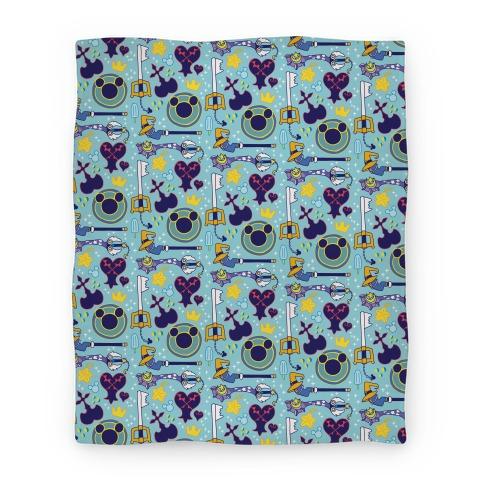 Kingdom Hearts pattern Blanket
