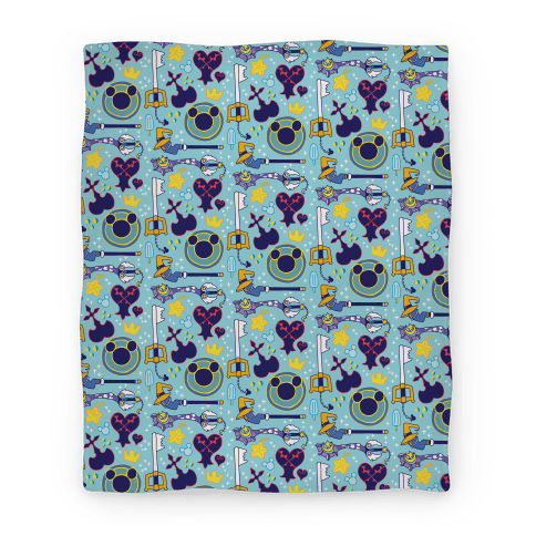 Kingdom Hearts pattern Blanket
