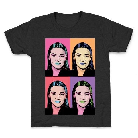 Alexandria Ocasio-Cortez Pop Art Parody Kids T-Shirt