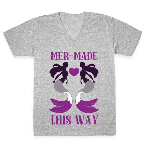 Mer-Made This Way - Ace V-Neck Tee Shirt