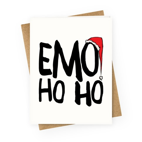 Emo Ho Ho Greeting Card