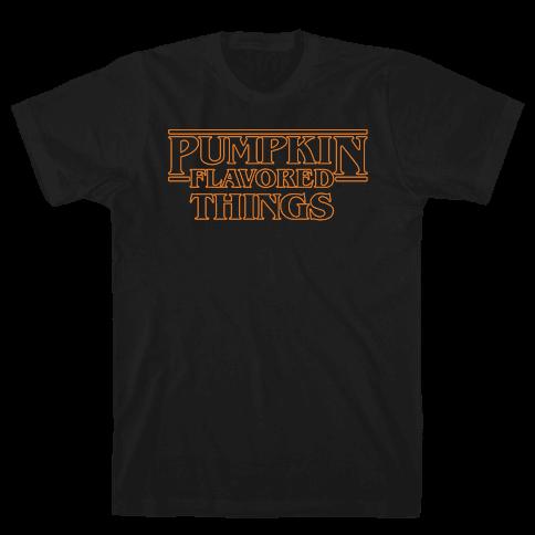 Pumpkin Flavored Things Parody White Print Mens T-Shirt