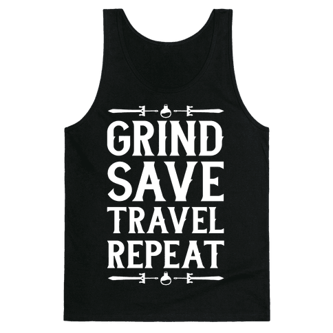 Grind, Save, Travel, Repeat Tank Top