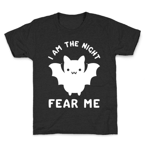 I Am The Night Fear Me Kids T-Shirt