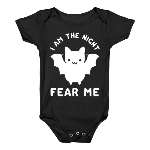 I Am The Night Fear Me Baby Onesy