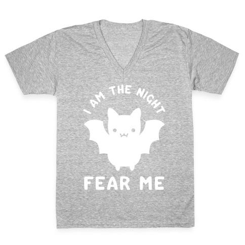 I Am The Night Fear Me V-Neck Tee Shirt