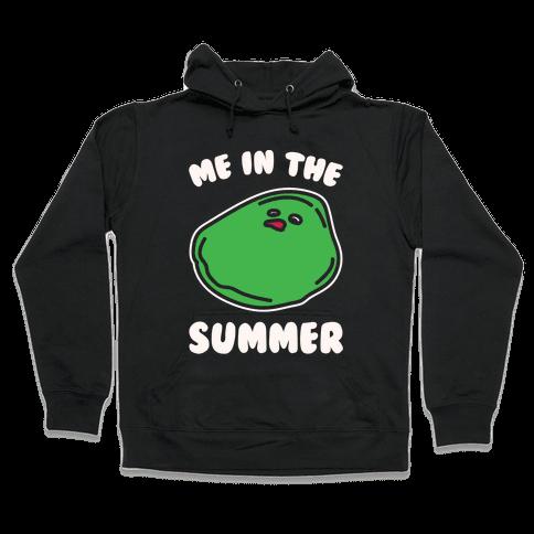 Me In The Summer White Print Hooded Sweatshirt