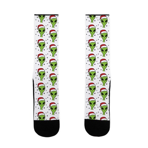 Christmas Alien Pattern Sock