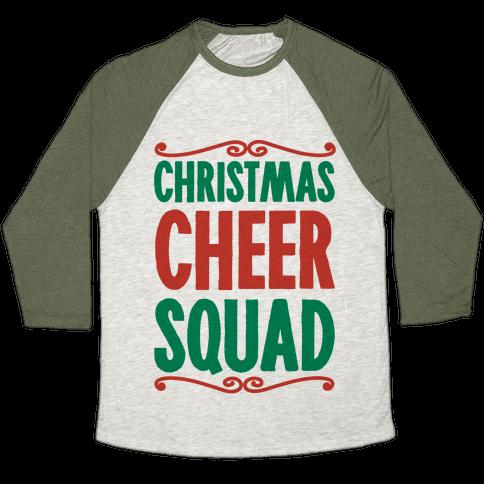 Christmas Cheer Squad Baseball Tee