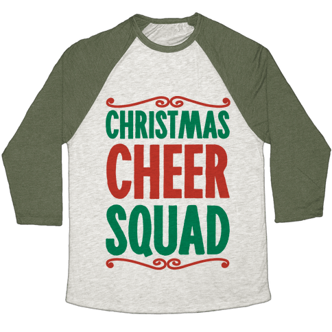 Christmas Cheer Squad Baseball Tee