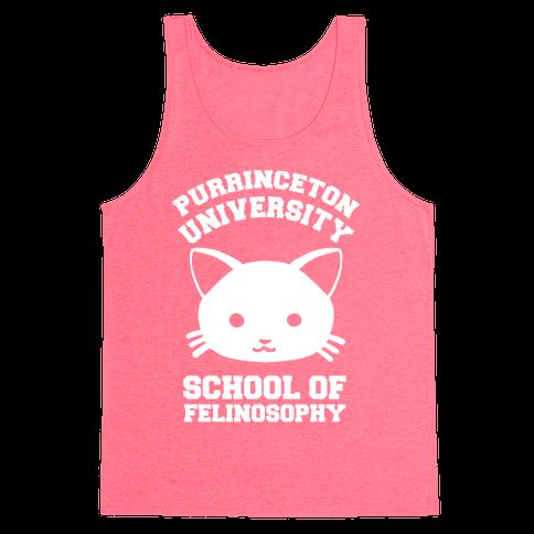 Purrinceton University School Of Felinosophy Tank Top