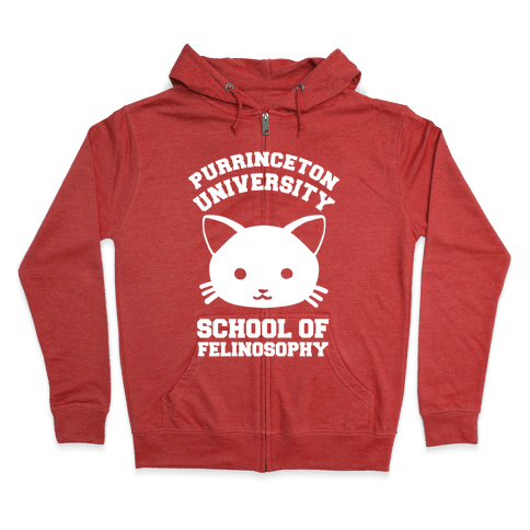 Purrinceton University School Of Felinosophy Zip Hoodie
