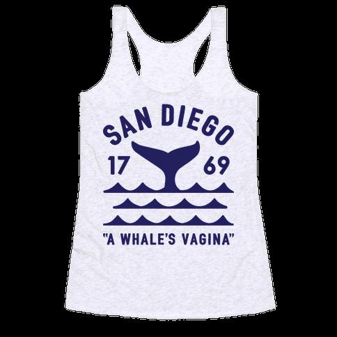 San Diego A Whale's Vagina Racerback Tank Top