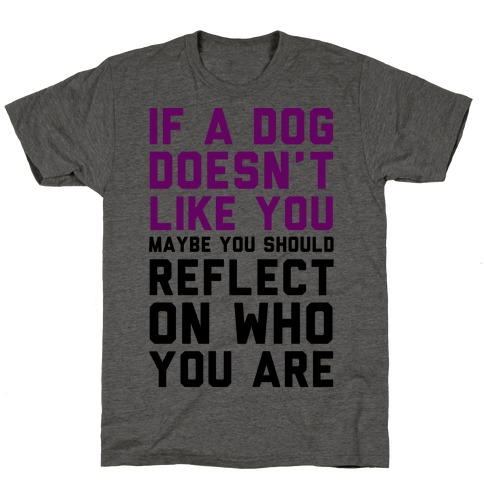 If A Dog Doesn't Like You Maybe You Should Reflect On Who You Are T-Shirt