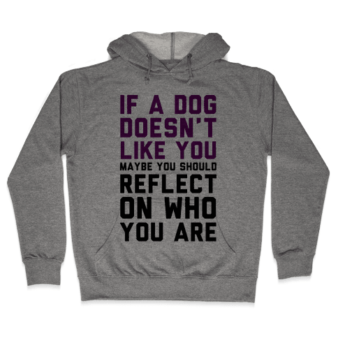 If A Dog Doesn't Like You Maybe You Should Reflect On Who You Are Hooded Sweatshirt