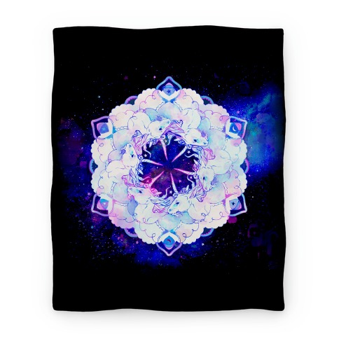 Unicorn Space Ring Blanket Blanket