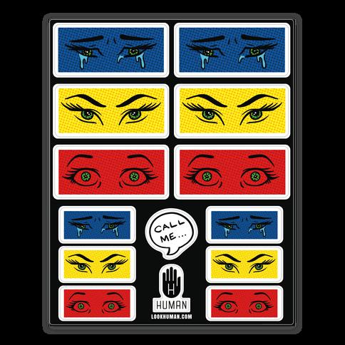 Pop Art Eye  Sticker/Decal Sheet