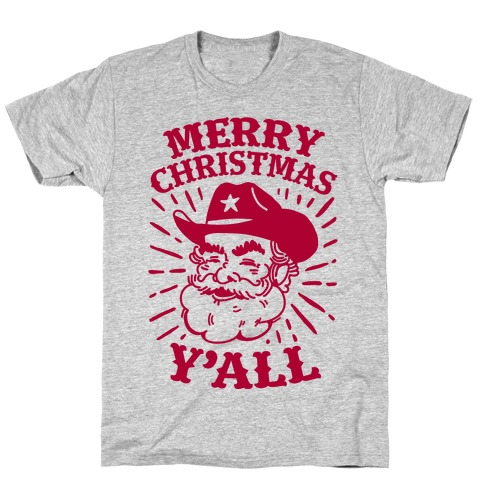 merry christmas yall santa claus t shirt