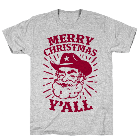 Merry Christmas Y'all Santa Claus Mens T-Shirt