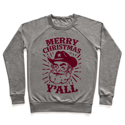 Merry Christmas Y'all Santa Claus Pullover
