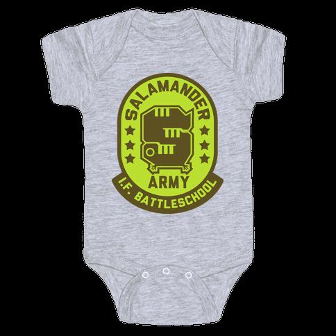 Salamander Army Baby Onesy
