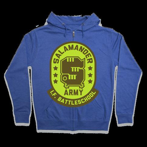 Salamander Army Zip Hoodie