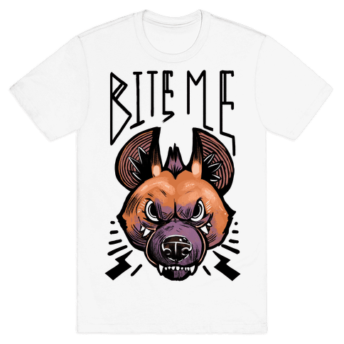 Bite Me- Hyena Mens T-Shirt