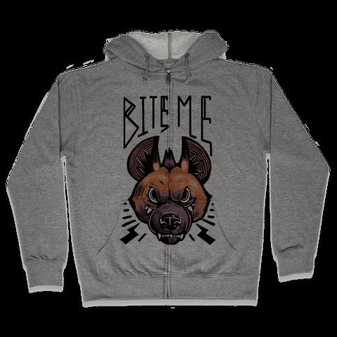 Bite Me- Hyena Zip Hoodie