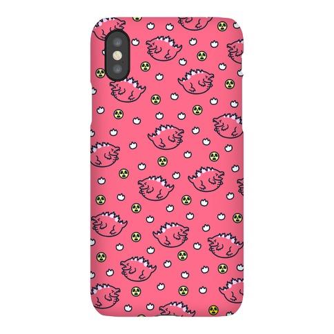 Pink Fat Godzilla Pattern Phone Case