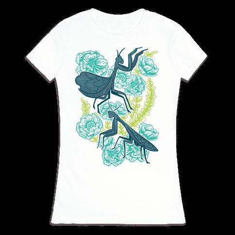 Praying Mantis Womens T-Shirt
