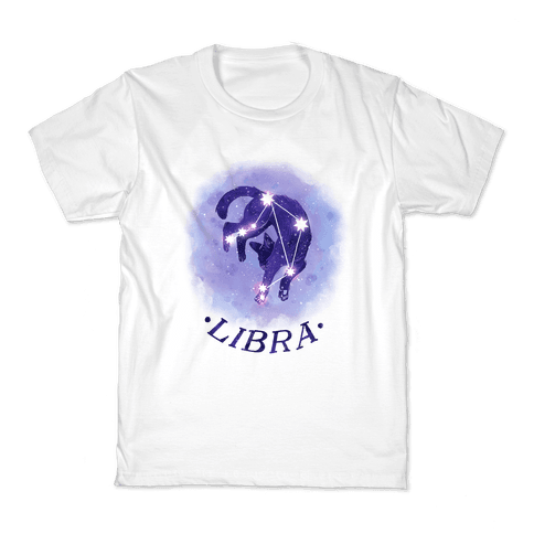 Cat Zodiac: Libra Kids T-Shirt