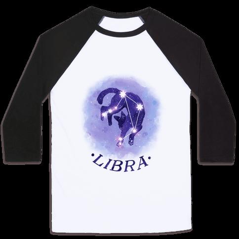 Cat Zodiac: Libra Baseball Tee