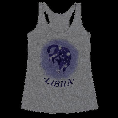 Cat Zodiac: Libra Racerback Tank Top