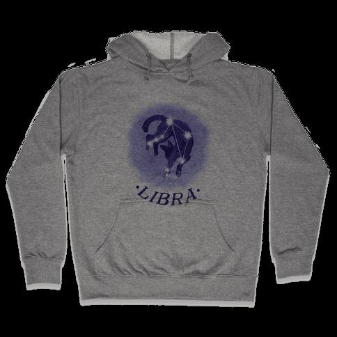 Cat Zodiac: Libra Hooded Sweatshirt