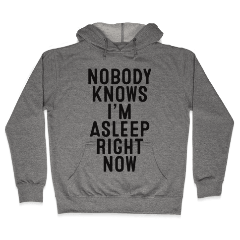 Nobody Knows I'm Asleep Right Now Hooded Sweatshirt