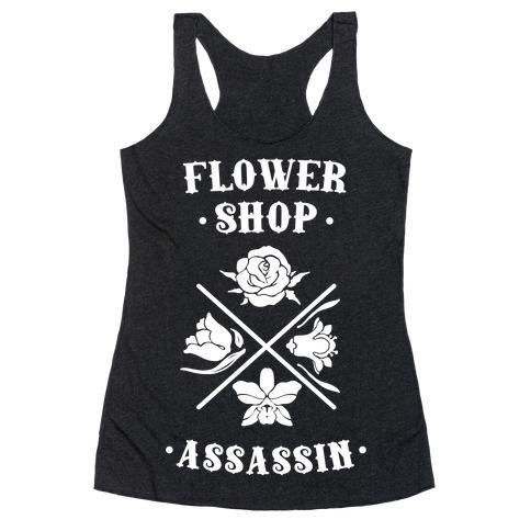Flower Shop Assassin Racerback Tank Top