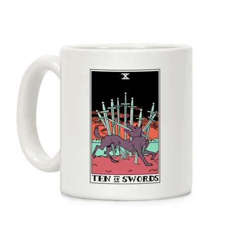 The Ten Of Swords Coffee Mug