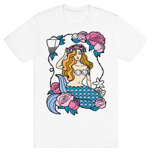 Nautical Tattoo Mermaid T-Shirt