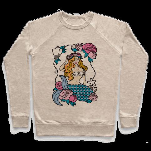 Nautical Tattoo Mermaid Pullover