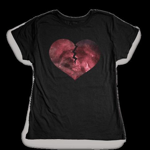 Broken Heart- Galaxy Womens T-Shirt