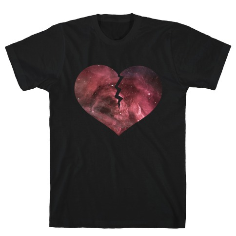 Broken Heart- Galaxy Mens T-Shirt