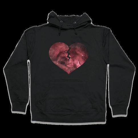 Broken Heart- Galaxy Hooded Sweatshirt