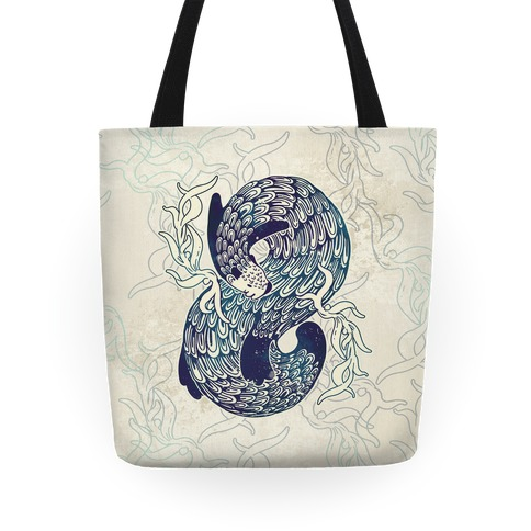 Swirling Wave Otter Tote