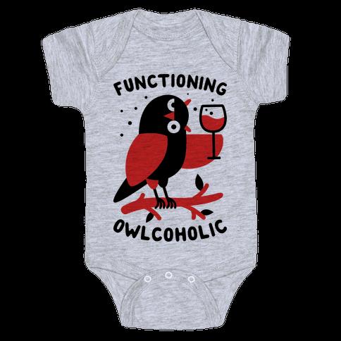 Functioning Owlcoholic Baby Onesy